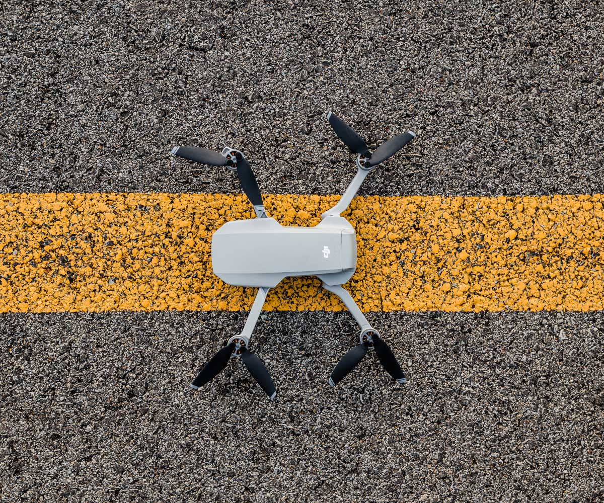 drone on road